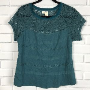 Anthropologie Meadow Rue Short Sleeve Size Large